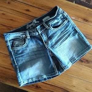 Request Jeans Denim Lightly Distressed Shorts